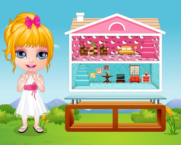 Baby barbie hobbies doll house for All barbie house decoration games