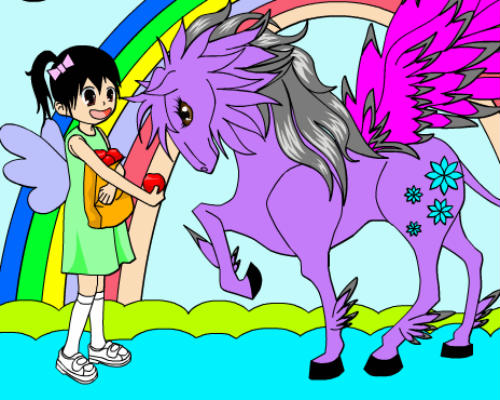 Coloring Sarah And Her Pony