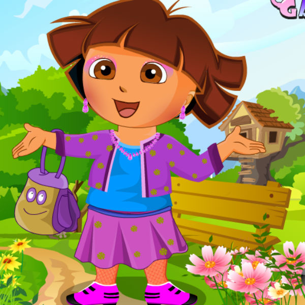 Dressup Kids Games Makeup Girl Game On The: Cute Dora Dress Up