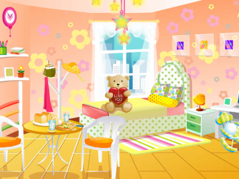 Pajama party room decoration for Baby rooms decoration games