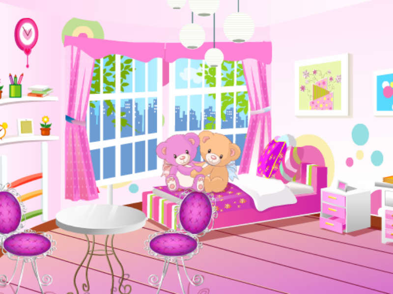Pajama party room decoration for Baby room decoration games online
