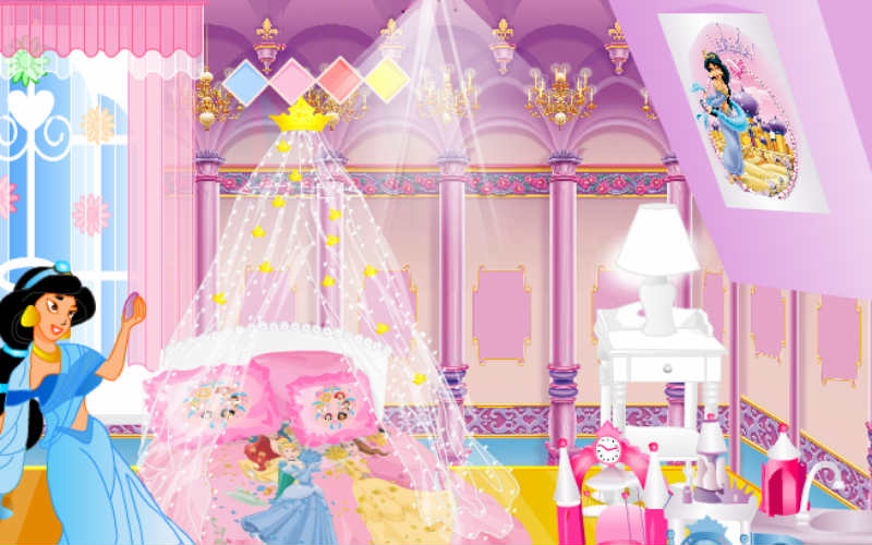 Disney princess room decoration for Baby room decoration games