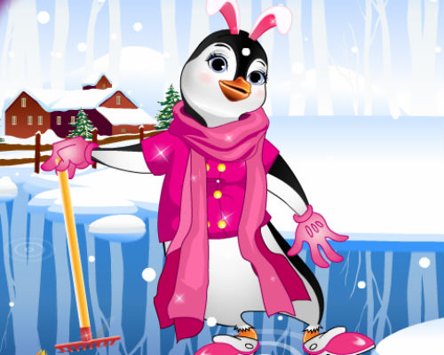 Summer Penguin Dress Up Game