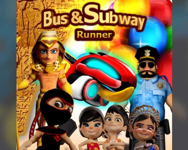 bus subway runner 3d