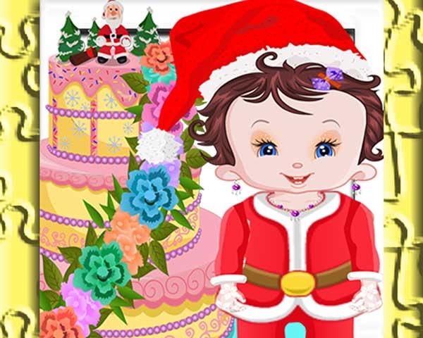 Baby Lisi Christmas Cake Jigsaw Puzzle