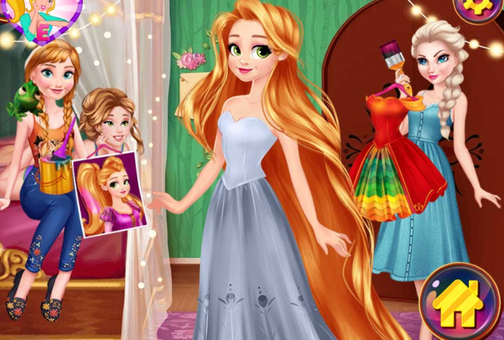 Rapunzel Design Your Rainbow Dress